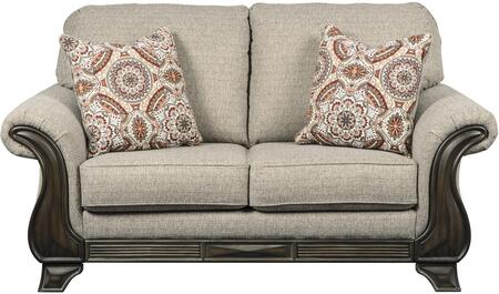 Claremorris Collection 1800335 71 inch  Loveseat with Fabric Upholstery  Cushioned Back and Seating  Rolled Armrests and Short Decorative Feet in