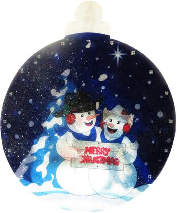 DEM146S 9 Snowmen Indoor Hanging Decor with 10 LED
