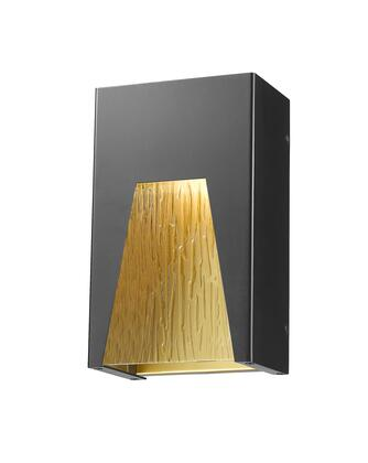 Millenial 561S-BK-GD-CSL-LED 6 1 Light Outdoor Wall Light Contemporary  Metropolitan  Modernhave Aluminum Frame with Black Gold finish in
