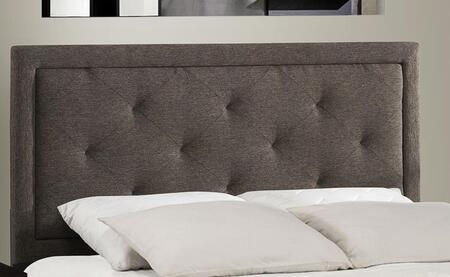 Becker 1296HFRB Full Sized Bed with Headboard and Frame  Wood Construction and Fabric Upholstery in Black Brown