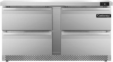 SWF60FBD 60 inch  Worktop Freezer with 4 Drawers  17 Cu. Ft. Capacity  Front Breathing Compressor  Aluminum Interior  Interior Hanging Thermometer  and