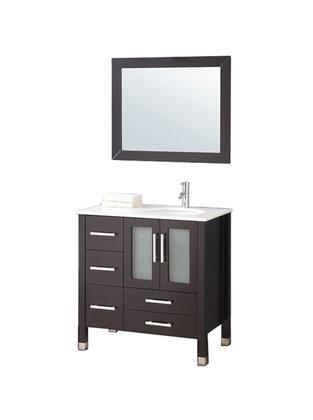 -2013E Sweden 36 Single Sink Bathroom Vanity Set