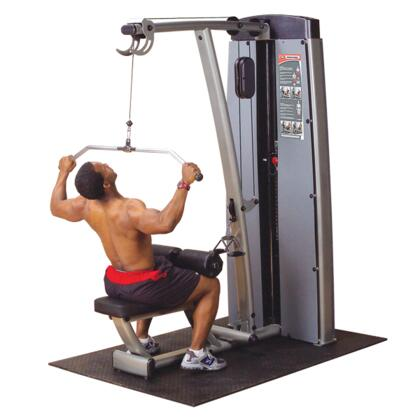 DLATSF ProClub Line Pro Dual Lat/Mid Row Machine with No-Cable-Change Design and Oversized Thight