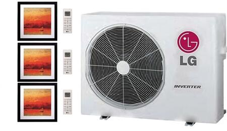 LMU24CHVPACKAGE13 Triple Zone Mini Split Air Conditioner System with 30000 BTU Cooling Capacity  3 Indoor Units  and Outdoor 704090