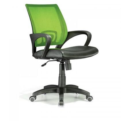 OFC-OFFCR LG Modern Officer Height Adjustable Modern Office Chair with Swivel in Lime