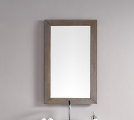 Chicago Collection 305-M26-WWW 26 inch  x 42 inch  Mirror with Beveled Glass and Acacia Solids in Whitewashed