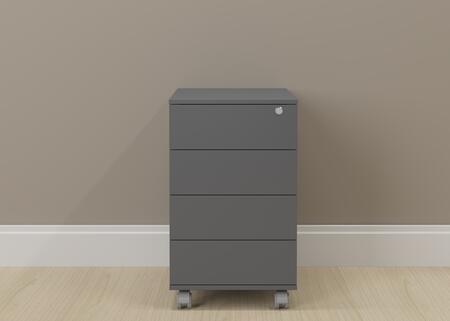 17094GP Graphite Wood 4-Drawer Cabinet with Casters in
