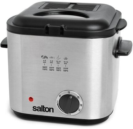 DF1539 1 Liter Compact Deep Fryer with Variable Temperature Control  Non-Stick Coated Bowl and 840 Watts in Stainless