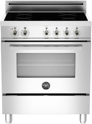 """PRO304INMXE 30"""" Professional Series Induction Range with 3.6 cu. ft. European Convection Electric Oven 4 Induction Heating Zones Soft Motion Door with Full"""