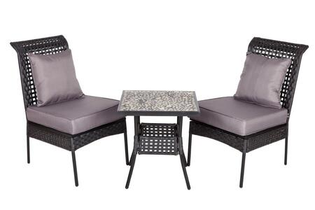 61470 Havasu All Weather Wicker 3pc. Bistro Set Two All Weather Wicker Chairs and a 20
