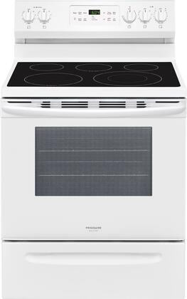 Frigidaire FGEF3036TW Gallery Series 30 Inch Freestanding Electric Range with 5 Elements, Smoothtop Cooktop, in White