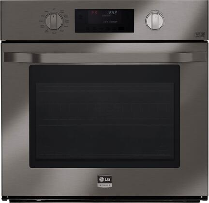 LSWS309BD 30 inch  Single Wall Oven with 4.7 cu. ft. Capacity  Pro-Style Knob Control Design  4 Mode True Convection System  Smart ThinQ