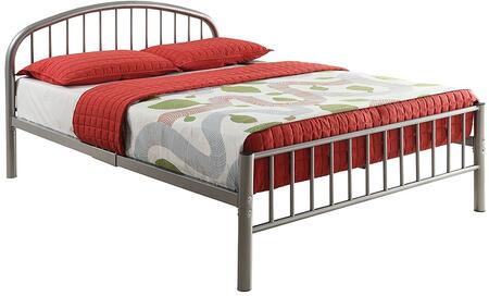 Cailyn Collection 30465FSI Full Size Bed with Curved Headboard  Low Profile Rectangular Footboard  Slat System Included  Metal Frame  Side Rails and Slats