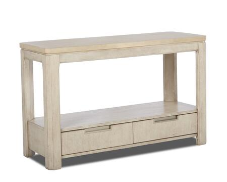 Monterey Collection 628-825-STBL 48 inch  Sofa Table with Bottom Shelf  Two Drawers and Recessed Hardware Pulls in White Washed