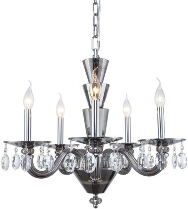 7870D23SS/RC 7870 Augusta Collection Chandelier D:23In H:18In Lt:5 Silver Shade Finish (Royal Cut