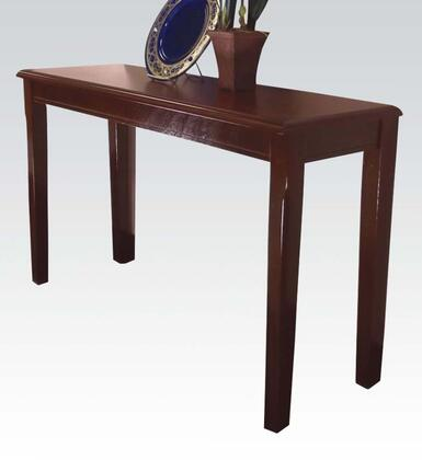 Chester Collection 06157 Sofa Table with Rectangular Shape and Tapered Legs in Merlot