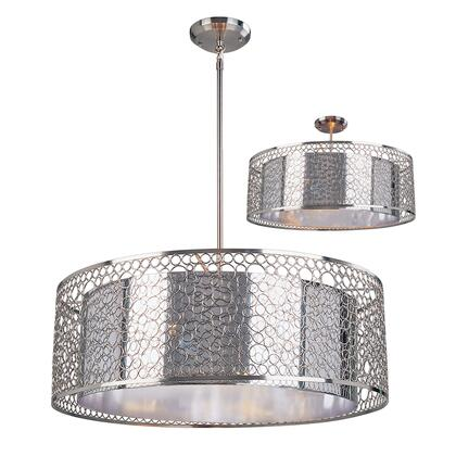 Saatchi 185-26 26 inch  6 Light Pendant Novelty  Whimsicalhave Steel Frame with Chrome finish in Chrome and