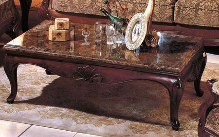VE1028-COFFEE Venessa 58 inch  Cocktail Table w/ Marble