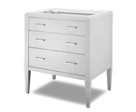 Manhattan V-MANHATTAN-30WT 30 inch  Vanity with Chrome Accented Drawers in