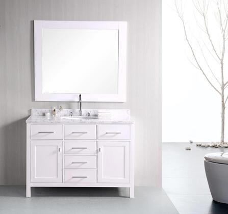 DEC076C-W London 48 inch  Single Sink Vanity Set in