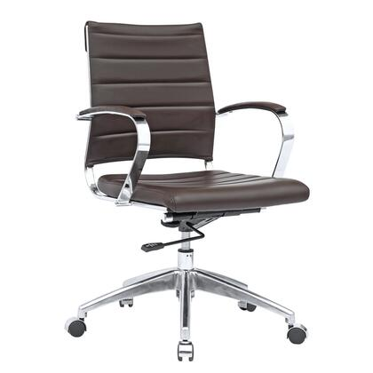 FMI10077-dark brown Sopada Conference Office Chair Mid Back  Dark