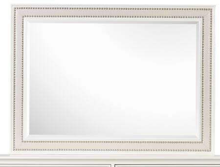 B2344-40 Diamond Collection Landscape Mirror in High Gloss White
