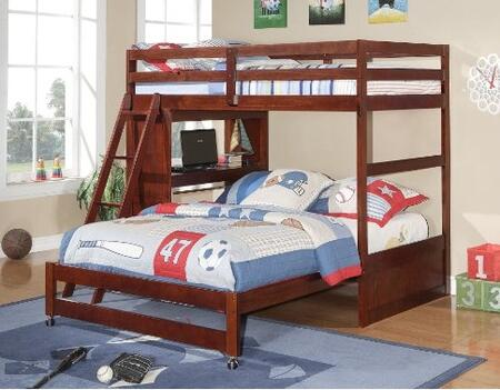12CP Twin Over Full Modular Loft Bed with Ladder Included  Casters  Slat Headboard and Footboard in