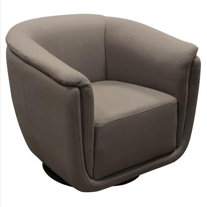 LOGANCHGR Logan Swivel Accent Chair with Contoured Seat Design  360 Degree Swivel and Soft-Touch Fabric Cover in Grey