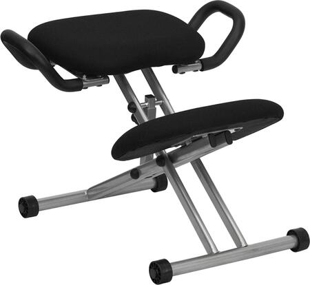 WL-1429-GG Ergonomic Kneeling Chair in Black Fabric with