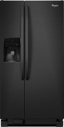 Whirlpool WRS342FIAB 22 Cu. Ft. Side-by-Side Refrigerator with Thru-the-Door Ice and Water Black