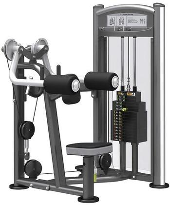 E-5105 Titanium Series 9324 Lateral Raise Machine with 200 lbs. Incremental Weight Stack  Military Grade Cables and High-Tech Oval Tubing in Black and