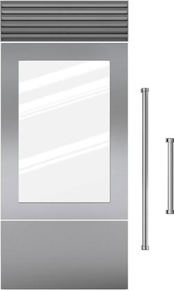 7008905 Door Panel Single Flush Inset - Stainless Steel with Pro Handle