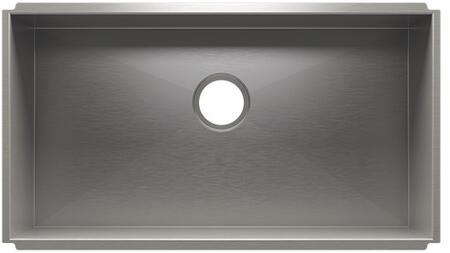Urban Edge Collection 003685 30 inch  Kitchen Sink with Single Bowl  3.5 inch  Drain Placement and 304 Series Corrosion Resistant Material in Brushed Stainless Steel