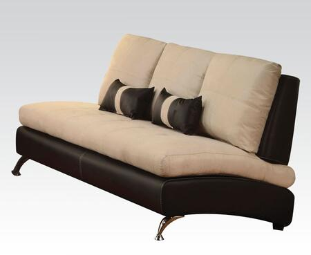 Jolie Collection 51755 73 inch  Sofa with 2 Pillows Included  Pine Wood Construction  Loose Back Cushions  Tight Seat Cushions  Suede and PU Leather Upholstery in