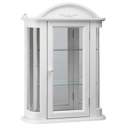 BN15221 White Rosedale Hardwood Curio Cabinet In