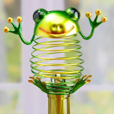 DFA1879 Wine Bottle Stopper - Frog in Green