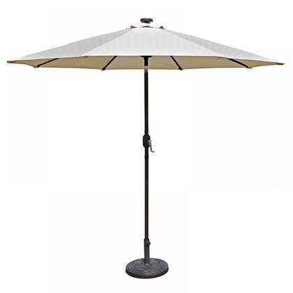 NU5424CH Mirage Fiesta 9-ft Market Umbrella w/ Solar LED in Champagne