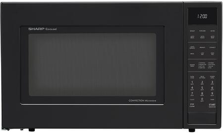 Sharp SMC1585BB Convection Microwave Oven Combination 11.22 gal Capacity Convection, Microwave, Roasting, Baking, Browning 10 Power Levels 900 W Microwave Power 15.40 Turntable 120 V AC