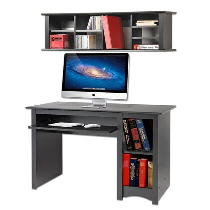 BDD-2948-DH 2-Piece Desk and Hutch Set with Computer Desk and Floating Hutch in