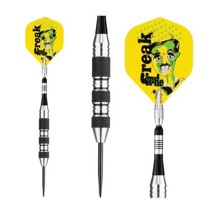 22-1702-22 Viper The Freak Steel Tip Darts Knurled And Shark Fin Barrel 22