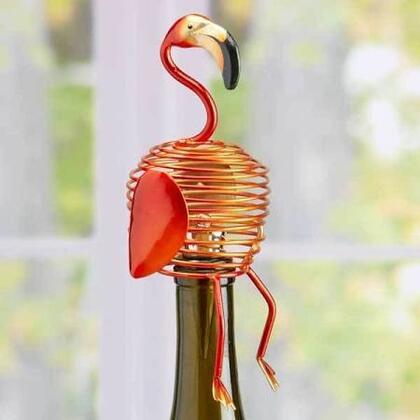 DFA1881 Wine Bottle Stopper - Flamingo in Pink