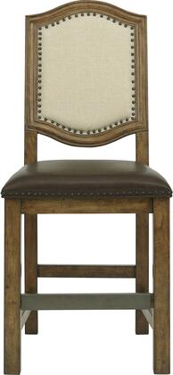 8854176A 25 inch  American Attitude Wood Frame Gathering Chair with Upholstered Seat and Back  Block Feet  Nail Head Accents and Distressed Detailing in