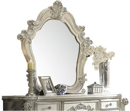 Versailles 21134 48 inch  x 47 inch  Beveled Mirror with Solid Wood Construction  Scrolled and Carved Frame in Bone