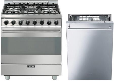 2-Piece Stainless Steel Kitchen Package with C30GGXU1 30 inch  Freestanding Gas Range and STU8649X 24 inch  Fully Integrated