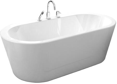 Una Pure Acrylic 71 inch  All-in-One Oval Freestanding Tub
