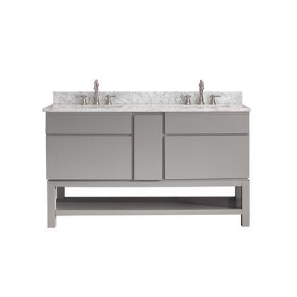 TRIBECA-VSB60-CG-C Avanity Tribeca 60 in. Vanity Combo with Base in Chilled Gray