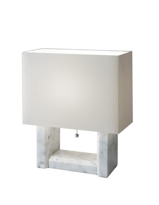 6440-02 Avery Table Lamp  White Marble