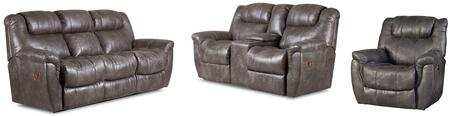 Montgomery Collection 216430314SLR 3-Piece Living Room Set with Sofa  Loveseat and Recliner in Padre