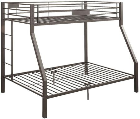 Limbra Collection 37510 Twin Over Full Size Bunk Bed with Slat System Included  Reversible Ladder  Full Length Guardrail and Sturdy Metal Construction in Sandy