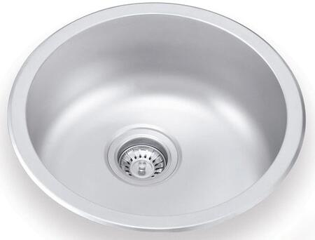 UN446 17 inch  Wide Undermount/Drop-in Single Bowl Sink - 18 Gauge: Stainless